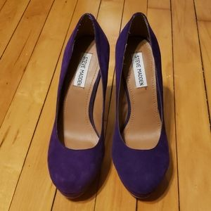 Steve Madden Beasst Purple pump